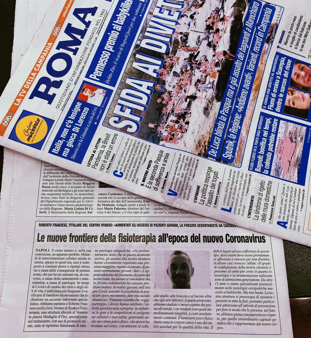 """Read more about the article Intervista a Roberto Franzese rilasciata al giornale """"Roma"""""""